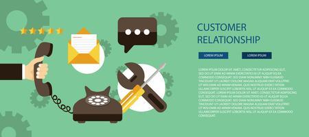 Concepto de servicio de atención al cliente de negocios