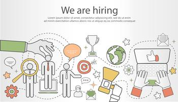 Choosing the best candidate for the job concept vector