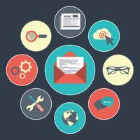 Concept de newsletter - nouvelles, messages et mises à jour