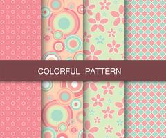 Colorful pattern set. Background patterns for fabric and paper vector