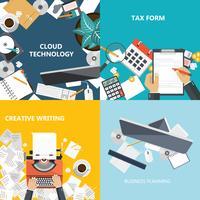 Conceitos de negócios e tecnologia. Ilustração vetorial plana