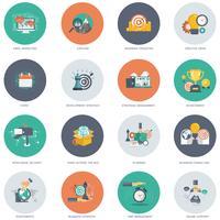 Conjunto de ícones de negócios e tecnologia para sites e aplicativos móveis