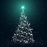 Christmas tree icon. Flat vector illustration