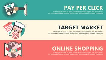 Pay per click, target market, on line shopping banners