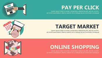 Betaal per klik, doelmarkt, online winkelbanners