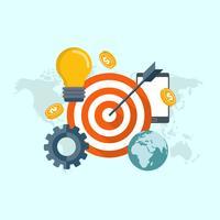 Het vinden van het doelwit van het marktconcept