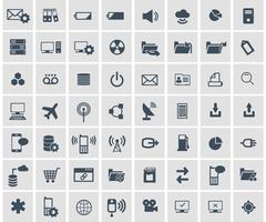 Social network, data analytic, mobile and web application icon set