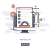 Concept de design web. Illustration vectorielle plane