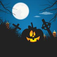 Halloween poster. Flat vector illustration