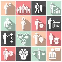 Human resources and management icon set