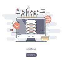 Hosting concept. Flat vector illustration