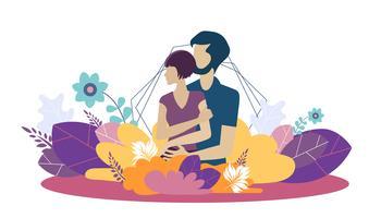 Website-Design-Vorlage für die wachsende Familie, gesunde und sichere Umgebung für die Familie. Moderne Vektorillustrationskonzepte für Website und Mobile.