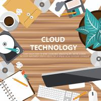 Cloud technology concept