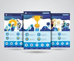 Website-Design-Vorlage für Business-Plan, Analyse und Statistik, Teambildung, Beratung. Moderne Vektorillustrationskonzepte für Website und bewegliche Websiteentwicklung.