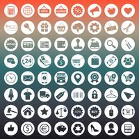 E commerce and shopping icon collection vector