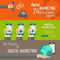 Banners de marketing digital