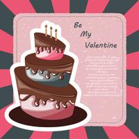 Valentine's day card and Birthday card with cake