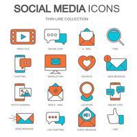 Social Media-Symbole für Websites und mobile Anwendung