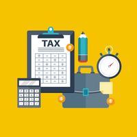 Pago de impuestos. Gobierno, impuestos estatales