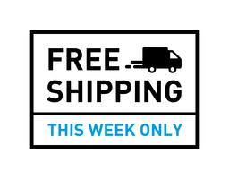 Free shipping. This week only. Badge with truck icon.