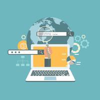Web zoeken concept. Zoekmachine optimalisatie concept