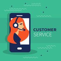 Live-Support-Banner. Geschäftskundenbetreuungs-Servicekonzept Konzept von Kontakt mit uns, von Unterstützung, von Hilfe, von Telefonanruf und von Website klicken. Flache Vektor-Illustration.