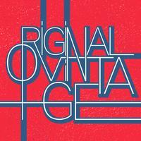 Original vintage typografi