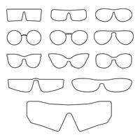 Glasses frames isolated