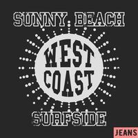 West coast vintage stamp vector