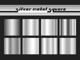 Silver gradient square vector