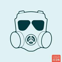 Respirator icon isolated
