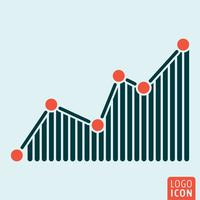 Graph icon isolated