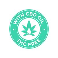 Ícone de óleo CBD. THC grátis.