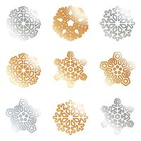 Snowflakes silver gold