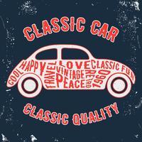Car vintage stamp