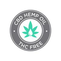 CBD Oil icon. THC Free. vector