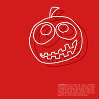 Halloween red background