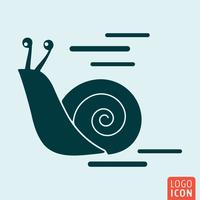 Snail icon isolated