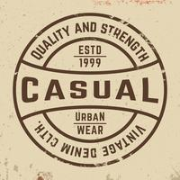 Sello vintage casual