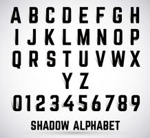 Alphabet shadow font