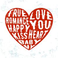 Selo de grunge coração vintage