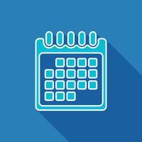 Ícone plano de calendário