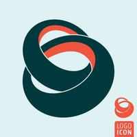 Linked rings icon vector