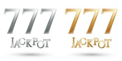 Lucky sevens jackpot vector