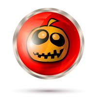 Halloween button icon
