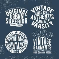 Establecer sello vintage