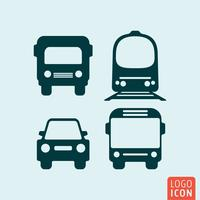 Icona di trasporto isolato