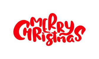 Merry Christmas vector text Calligraphic Lettering design card template. Creative typography for Holiday Greeting Gift Poster. Font style Banner
