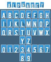 Alfabet platte lettertype sjabloon