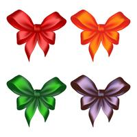 Colored ribbon bows
